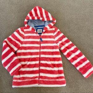 Cozy Mini Boden Fleece Striped Sweatshirt 11 12